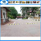 Cheap china wholesale recycled rubber speed bump Traffic One Way Speed Breaker Rubber striped speed bump & End caps