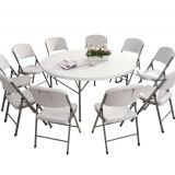 6FT Plastic Folding Dining Party Table