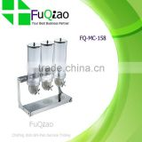 3x3.5L Stainless Steel Buffet Cereal Dispenser for Hotel Restaurant                                                                         Quality Choice