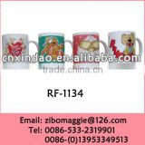 Personalized Can Shape Valentine's Print Promotion Milk Ceramic Mugs with Good Quality