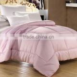 Pink jacquard microfibre filled high density surace fabric woven cloth queen king luxury comforter set
