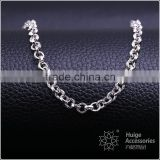 beautiful simple design fashion jewelry rhodium plated cheap cable chain necklace