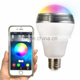 2016 hot sell colorful bulb APP control bluetooth speaker with LED lighting light                                                                         Quality Choice