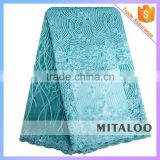 Mitaloo Bridal Lace Aqua French Lace High Quality Tulle Lace for Fashion Garment MFL0132