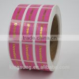 Custom Printed Self Adhesive Gold/Silver Hot Stamp Foil Paper Label