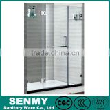 Chian Foshan factory 304 stainless steel hinge bathroom shower 3 panel plastic folding shower doors