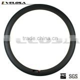Velosa High profile 50mm carbon clincher rims 23mm wide 700C road racing bicycle wheelsets HTG braking track