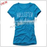 fitness apparel china aupplier custom casual women tshirt cotton woman plus size tee shirt