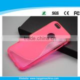 2014 new arrival S shape tpu case for iphone 6 cell phone case