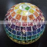 disc mosaic glass ball with led light