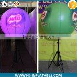 Advertising custom print inflatable standing lighting ball/inflatabe tripod ball/standing lighting led bracket ball