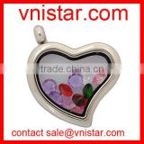 Vnistar exchangeable living memory glass locket pendant for floating charms wholesale VSP012
