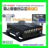 Linux based 3g realtime ptz control GPS mobile cctv system dvr with CMS remote viewing SMS support