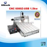 LY CNC 8060Z 1.5kw 3 axis router with USB connection for wood, metal, aluminum working at home