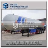 Hot sale For export ! three axles 57000LT 57KL 57M3 propylene lpg gas tanker semi trailer