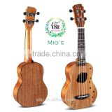 "UKU Mio's wholesale 21"" soprano engraving lovely satin matte finish ukulele with ukulele"