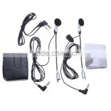 Motorbike Motorcycle Helmet Headset 2 way Intercom Communication System