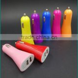 portable 2 usb car charger colorful good quality dual usb car charger for factory wholesale cheap price