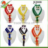 JQ008 2016 Fashion African Beads Jewelry Set Nigerian Wedding Beads Jewelry Set Bridal Necklace Earrings Bracelet