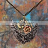 Latest Hot Design Antique Gold Pendant Chain Necklace Jewelry