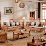 2015 High Quality Indoor bamboo Cane 123 sofa sets Vintage Rattan Furniture for salon                                                                         Quality Choice