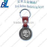 Quality 3d effect mini medal belt clip key chain with antique nickel plating