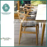 Solid beech wood coffee Y chair with modern style