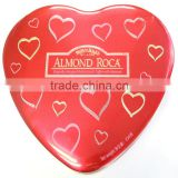 Red tin candy box wedding favors