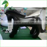 Hongyi Hot Sale Giant Inflatable Black Horse / Large Inflatable Cartoon Horse Toys For Sitting