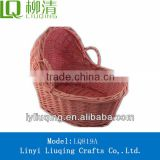 cheaper pink color wicker baby sleeping baskets baby swing and bassinet