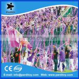 Round paper frisbee confetti, party throwing crepe paper streamer                                                                         Quality Choice