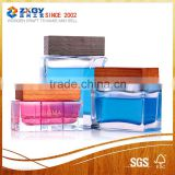 High quality cosmetic glass bottle/jar with wooden cap