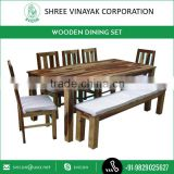 New!! Wooden Dining Table Set with Bench Available for Sale