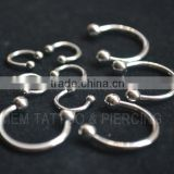 Flexible Circular Barbell Eyebrow Ring CBR Body Piercing Jewelry