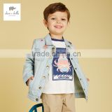 DB3068 dave bella spring cotton baby tops baby shirts baby denim coat outwear girls clothing