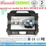 DH8003 Car DVD Player FOR KIA SPORTAGE R 2011 2012 2013 2014 Touch screen CD Video CD Mp3 Mp4 JPEG