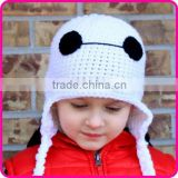crochet cartoon cahracter hat pattern hand knitted baby beanie hat baymax boys crochet hats