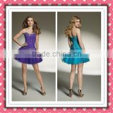 2012 New Arrival Modern Hot Sale Sweetheart Purple Ice Blue Beaded Cocktail Dress Homecoming Dress MLC-135