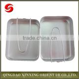 Heated high quality two pieces aluminium mess tin for camping/ army alumimum canteen /military mess tin canteen