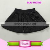 Children Clothing 2016 Bulk Wholesale Latest Design Cheap Multiple Color Tutu Skirt Black Sequin baby skirt Girls Pettiskirt