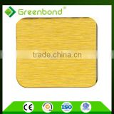 Greenbond silver brush surface treatment acm panel building material