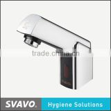 washroom hands free faucet, automatic non-touch faucet, infrared sensored bathroom faucet