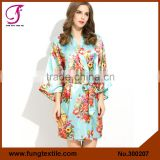 Fung 3002 Short Design Women Floral Ladies Dressing Gowns                                                                                         Most Popular                                                     Supplier's Choice