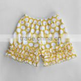 Hottest sale cotton kids clothing factory shorts wholesale spandex shorts polka dot cotton girls summer shorts