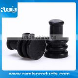 3.7mm Black rubber hole plug