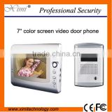 7 inch color video door entry system video door intercom 750TVL night version camera video door bell for apartment