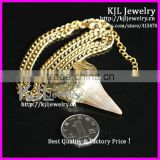 KJL-A143 real teeth necklace,shark tooth pendant womens chain necklace