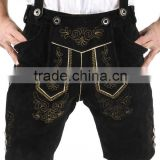 Lederhosen, Kniebund hosen, Men ledersosen trachten lederhosen leather pants with suspenders