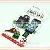 New iPega Alcohol Tester for iPhone 5 5S,LCD Alcoholometer Breath Breathalyzer Backlight Color for iPhone 5 5S
