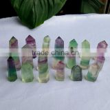 Top Quality Polished Rainbow Fluorite Crystal Points Purple&Green Fluorite Crystal Wand